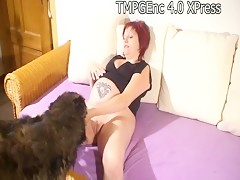 Jasmin pregnant and dog 02